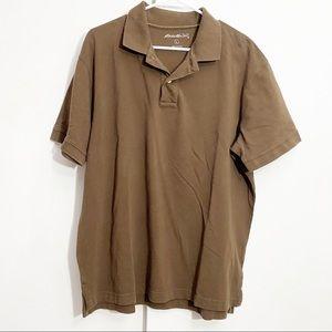 EDDIE BAUER men's polo shirt L 100% cotton